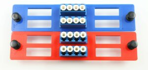 3D Printed Colorized Fiber Optic Adapter Panels