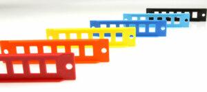 3D Printed Colored Fiber Optic Adapter Panels