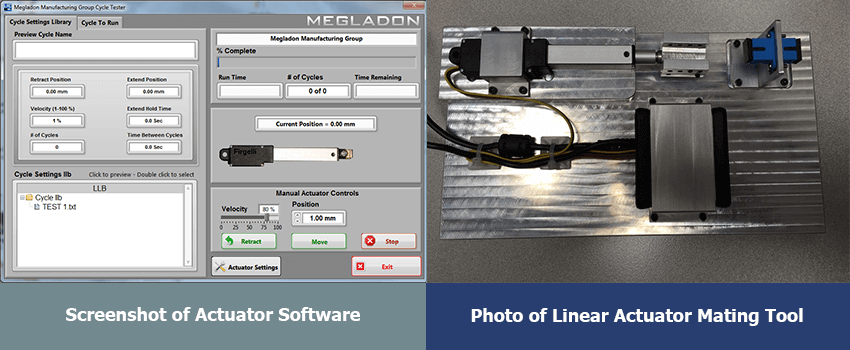Megladon Photo: Actuator Software Screenshot & Actuator Mating Tool