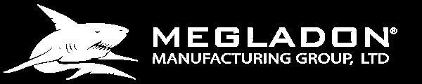 Megladon Manufacturing - White Logo