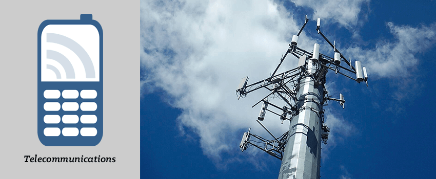Header Graphic For Telecommunications Products - Photo of Cellular Tower